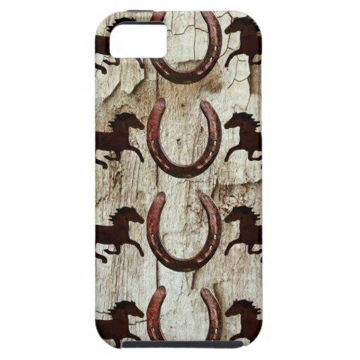 Herraduras de los caballos en los regalos de iPhone 5 carcasas