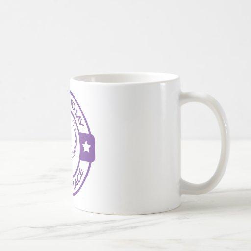 Herraduras felices del lugar A258 púrpuras Tazas De Café