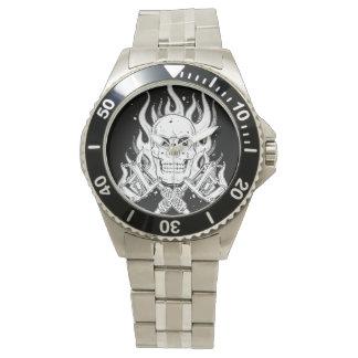 Herramienta blanca negra clásica fresca de la relojes de mano