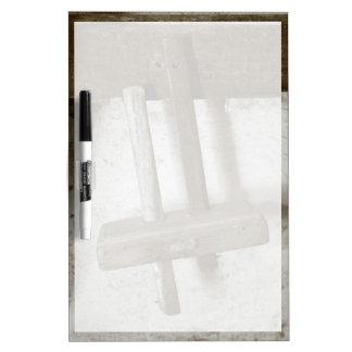 Herramienta de la carpintería del vintage pizarra blanca