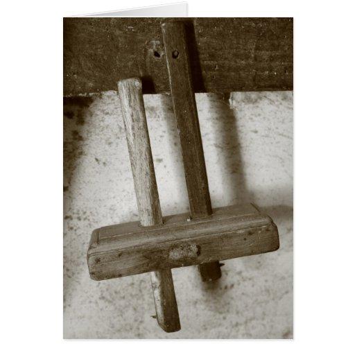 Herramienta de la carpintería del vintage tarjeta de felicitación