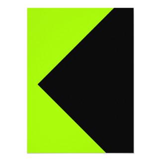 Herramientas amarillas de neón chartreuses del invitación 13,9 x 19,0 cm