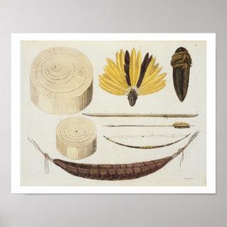 Herramientas, armas y utensilios de Puri y de Boto Póster