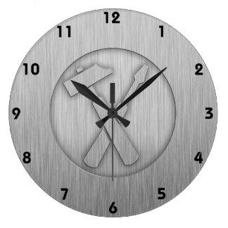 Herramientas cepilladas del carpintero de la Metal Reloj