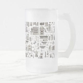 Herramientas científicas taza de cristal