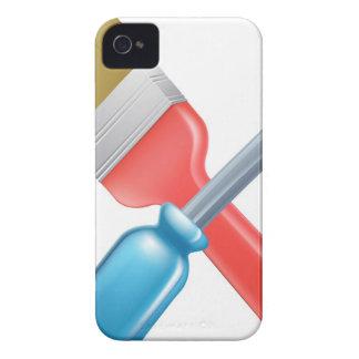Herramientas cruzadas del destornillador y de la b iPhone 4 Case-Mate cobertura