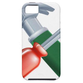 Herramientas cruzadas del destornillador y del iPhone 5 funda