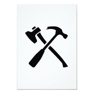"""Herramientas cruzadas martillo del hacha invitación 3.5"""" x 5"""""""