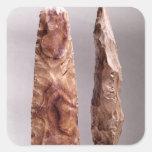 Herramientas de Campigny, 6000-2000 A.C. Pegatina Cuadrada