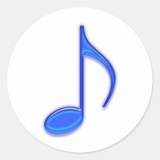Herramientas de cristal de la música pegatina redonda