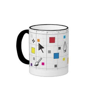 Herramientas de diseño taza de dos colores