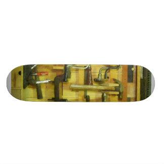 Herramientas de la carpintería patines