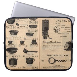 """""""Herramientas de la cocina del vintage """" Mangas Computadora"""