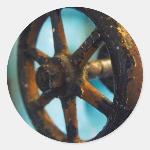 Herramientas de la destilería etiqueta redonda