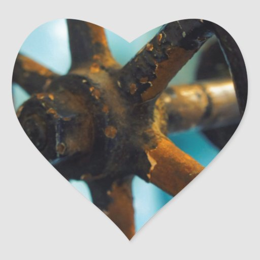 Herramientas de la destilería pegatina corazón personalizadas