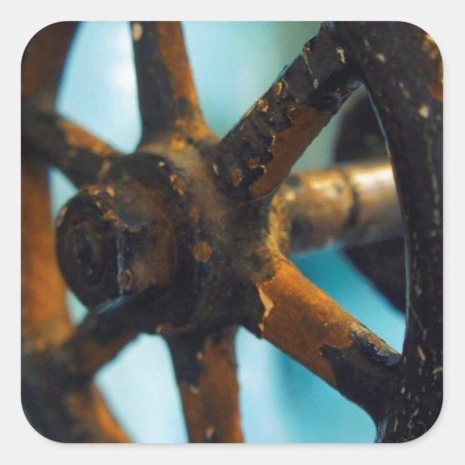 Herramientas de la destilería calcomanía cuadrada personalizada