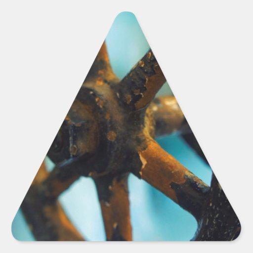 Herramientas de la destilería calcomanías trianguloes personalizadas