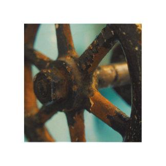 Herramientas de la destilería impresión en madera