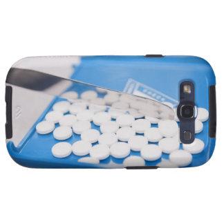 Herramientas de la farmacia, píldoras, medicación samsung galaxy s3 coberturas