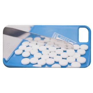Herramientas de la farmacia, píldoras, medicación iPhone 5 fundas
