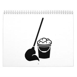 Herramientas de la limpieza calendario de pared