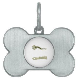 Herramientas de la llave placas mascota