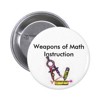 herramientas de la matemáticas, armas de la instru pin redondo de 2 pulgadas