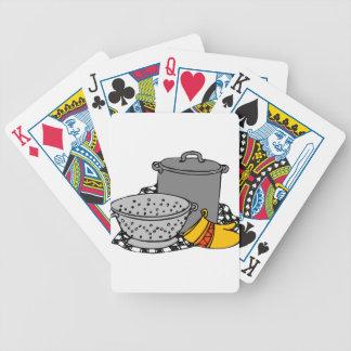 Herramientas de las pastas baraja de cartas