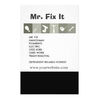 """Herramientas de los hombres. La reparación de la Folleto 5.5"""" X 8.5"""""""