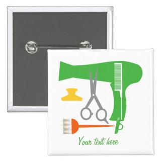 Herramientas de los peinados pin cuadrado