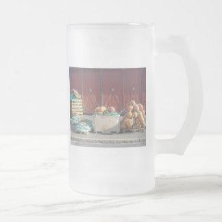 Herramientas del comercio de la pesca tazas de café