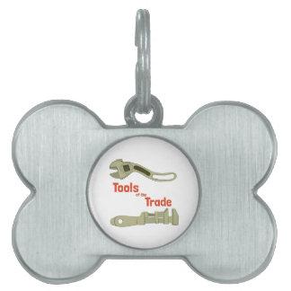 Herramientas del comercio placa mascota