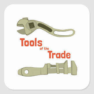 Herramientas del comercio pegatina cuadrada