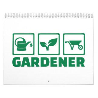 Herramientas del jardinero calendario