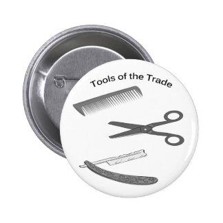 Herramientas del peluquero del comercio pin redondo de 2 pulgadas