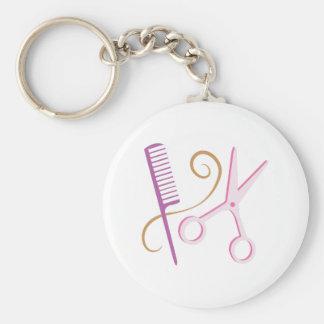 Herramientas del peluquero llavero redondo tipo pin