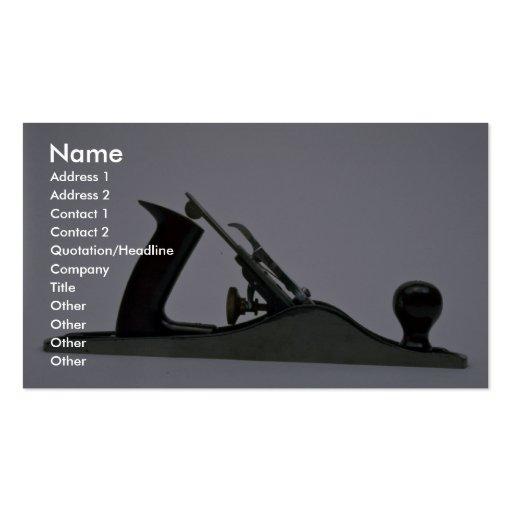Herramientas del perfil plano estándar comercial tarjeta de visita