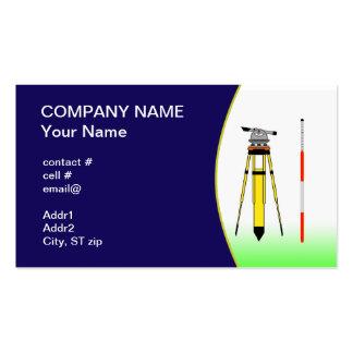 herramientas del topógrafo plantillas de tarjeta de negocio