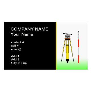 herramientas del topógrafo plantilla de tarjeta de visita