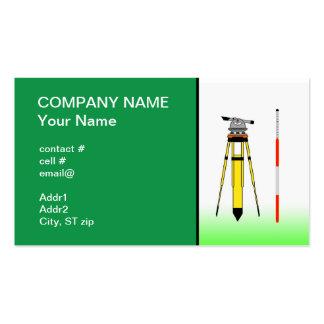 herramientas del topógrafo tarjetas de negocios
