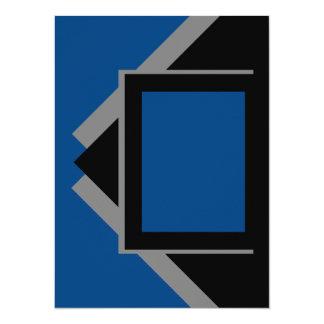 Herramientas grises grises azul marino del color invitación 13,9 x 19,0 cm