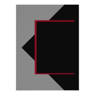 Herramientas grises grises rojo oscuro del color invitación 13,9 x 19,0 cm