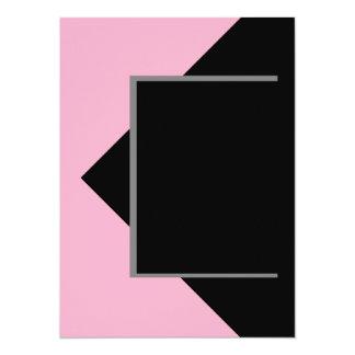 Herramientas grises grises rosadas del color invitación 13,9 x 19,0 cm
