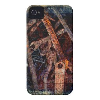 Herramientas oxidadas viejas iPhone 4 cárcasa