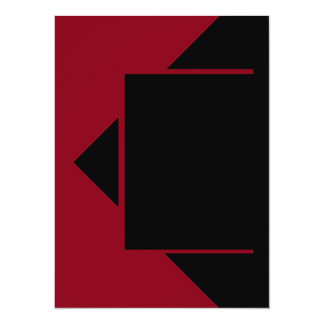 Herramientas rojo oscuro del color de Borgoña del Invitación 13,9 X 19,0 Cm
