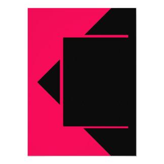Herramientas rosadas rojas del color solamente invitación 13,9 x 19,0 cm