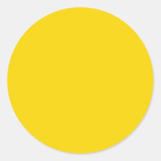 Herramientas visuales amarillas del identificador etiqueta redonda