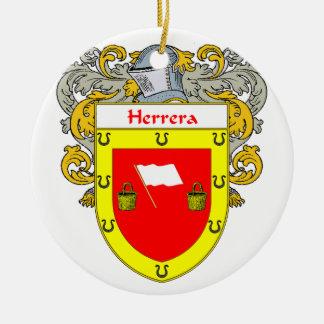 Herrera Coat of Arms/Family Crest Ceramic Ornament