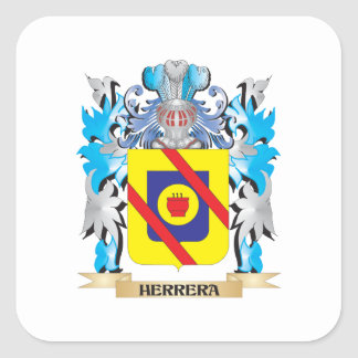 Herrera Coat of Arms - Family Crest Square Sticker