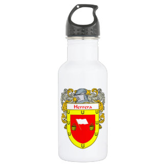Herrera Coat of Arms/Family Crest Stainless Steel Water Bottle